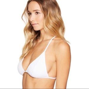 Free People White Mesh Triangle Bralette - Large